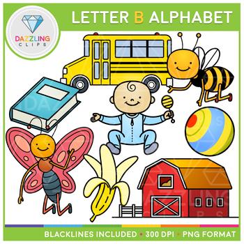 Alphabet Letter B Clip Art.
