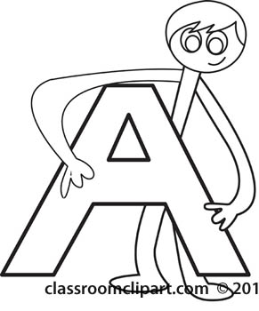 Alphabet letters clip art black and white.