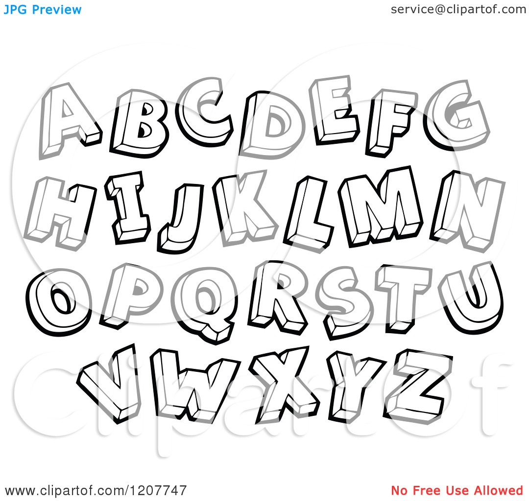Alphabet Letter Clipart Black And White.