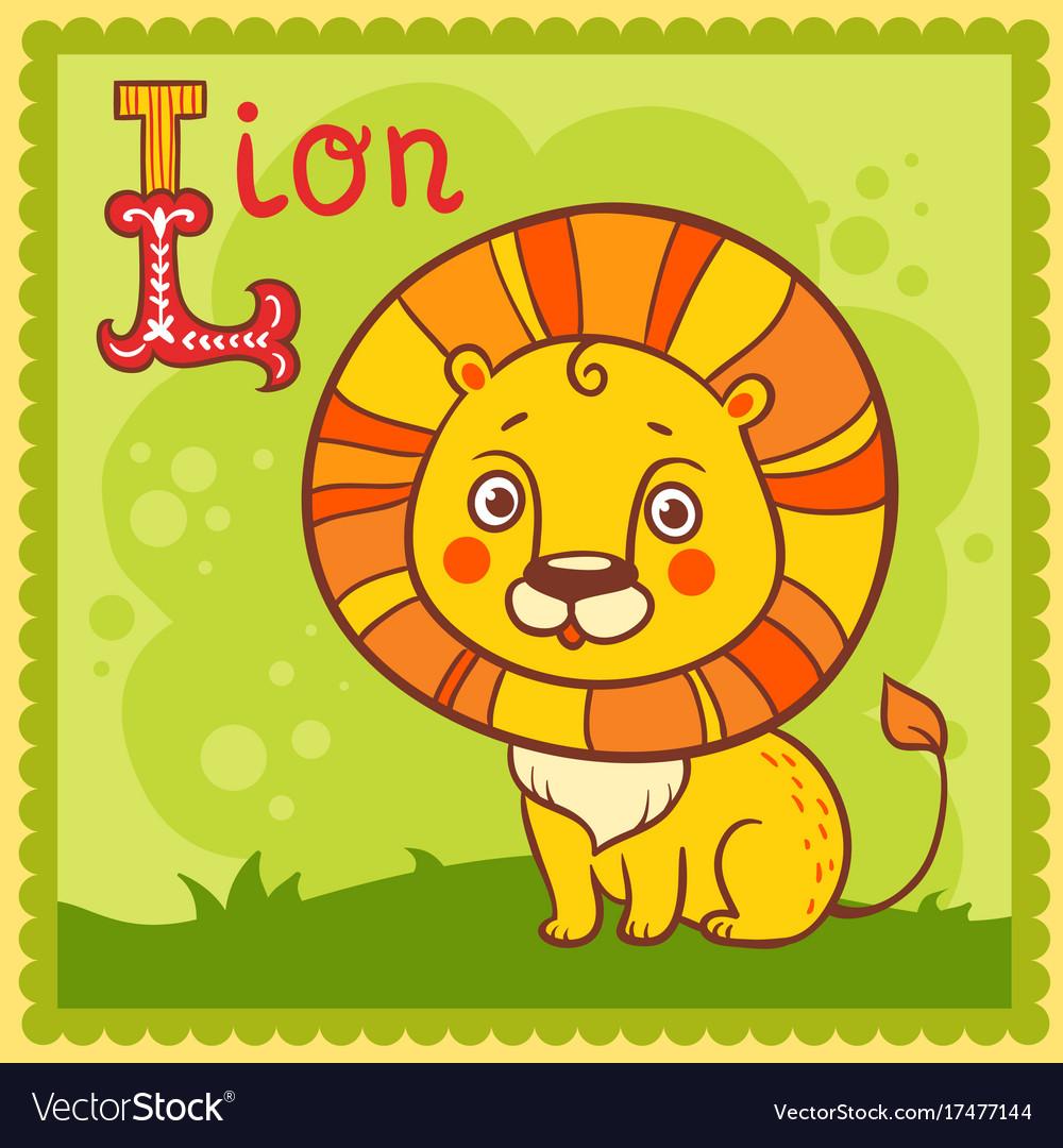 Alphabet letter l and lion.