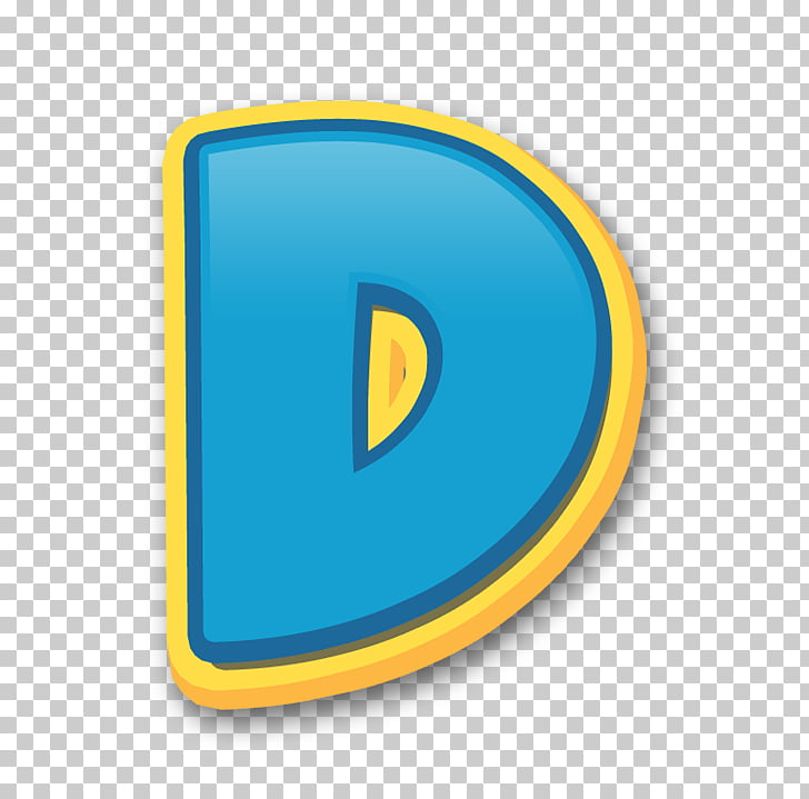 Patrol Letter Alphabet, others, blue and yellow D logo PNG.