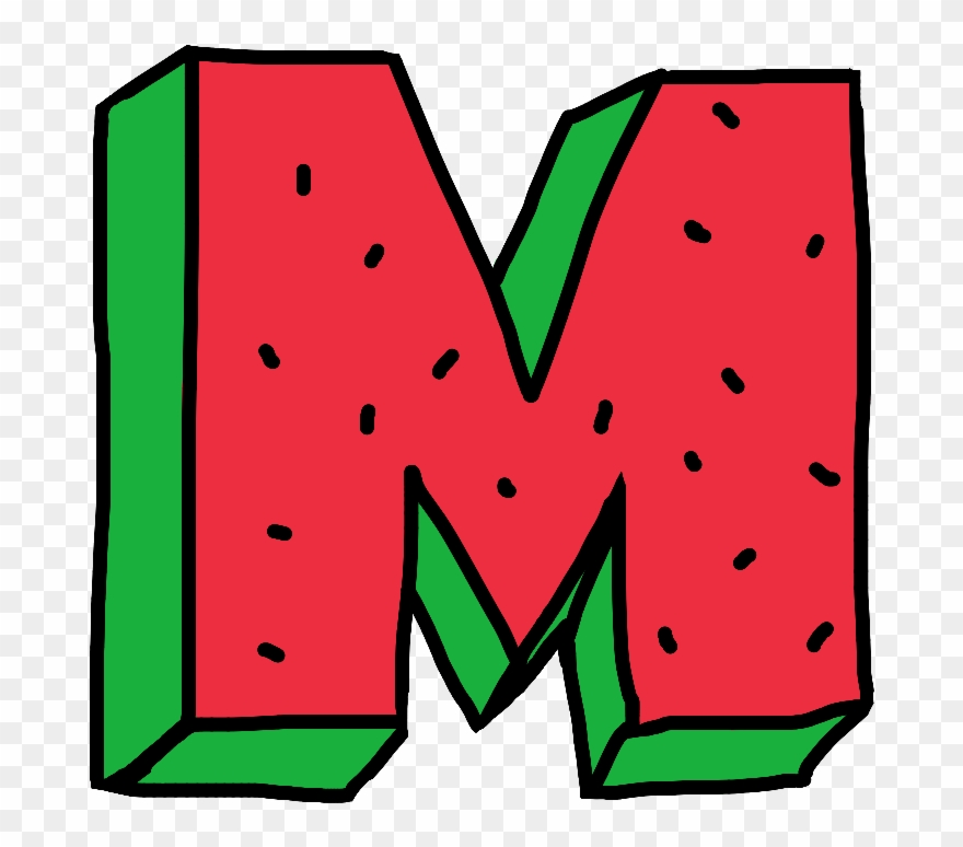 m #letter #water #watermelon #fruit #red #green #alphabet.