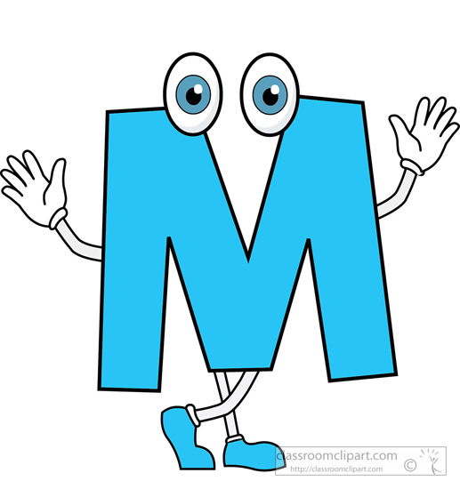 Alphabet M Clipart.