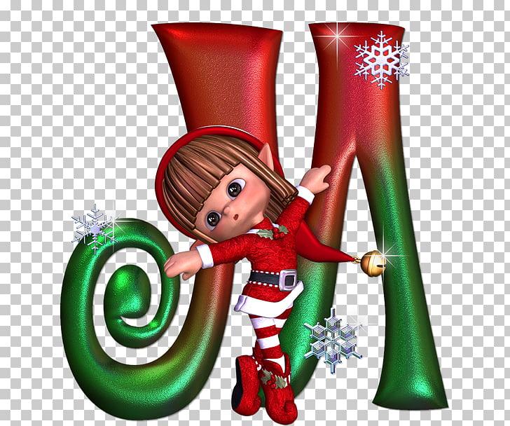 Christmas elf Alphabet Letter Santa Claus, christmas PNG.
