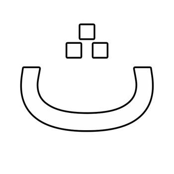 Outline Arabic Alphabet Clipart.
