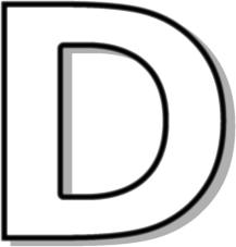 Letter outline clipart d.