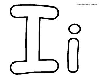 Alphabet Outlines with Capital and Lowercase Letters.
