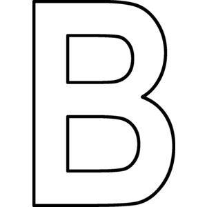 letter B outline.