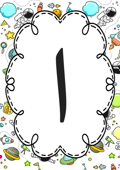 Arabic alphabet poster Space theme.