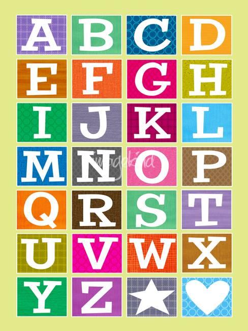 ABC Alphabet Poster by Karyn Lewis.