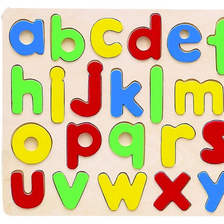 Hot Sale 26 Pieces See Inside Abc Puzzle Wooden Alphabet Puzzle.
