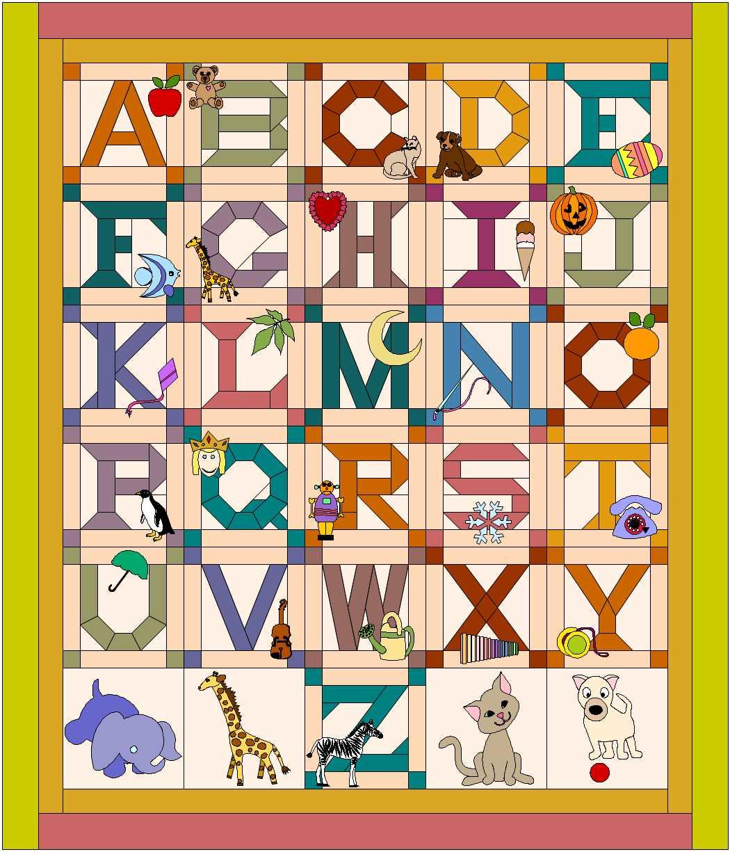 The Alphabet Quilt.