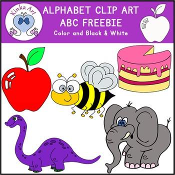 A B C Letter Clip Art {Beginning Sounds} Alphabet FREEBIE.