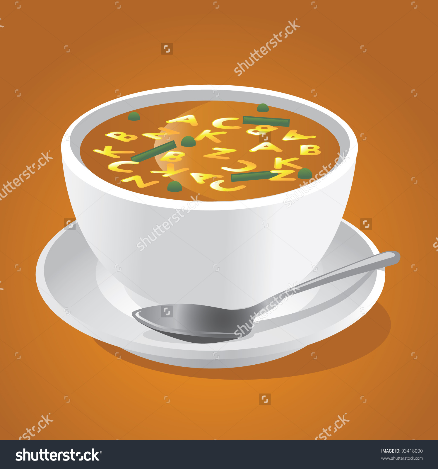 Alphabet Soup Eps 8 Vector Grouped Stock Vector 93418000.
