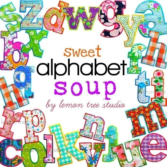 Digital Clip Art Sweet Alphabet Soup by LemonTreeStudio on Etsy.