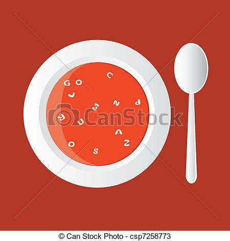 Vectors of alphabet soup.