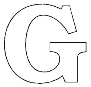Stencil Letter Clipart.