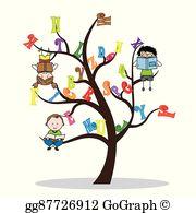 Alphabet Tree Clip Art.