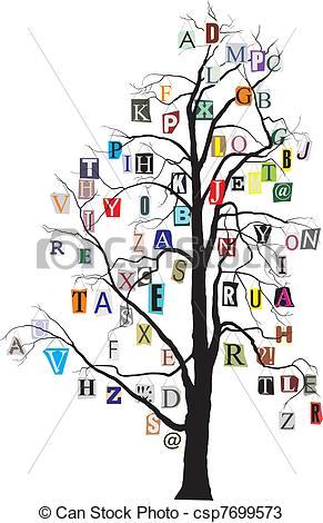 Alphabet tree.