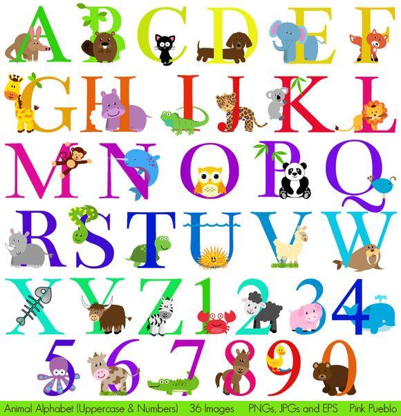 Illustrations ~ Animal Alphabet Vectors & Clipart 2 by.