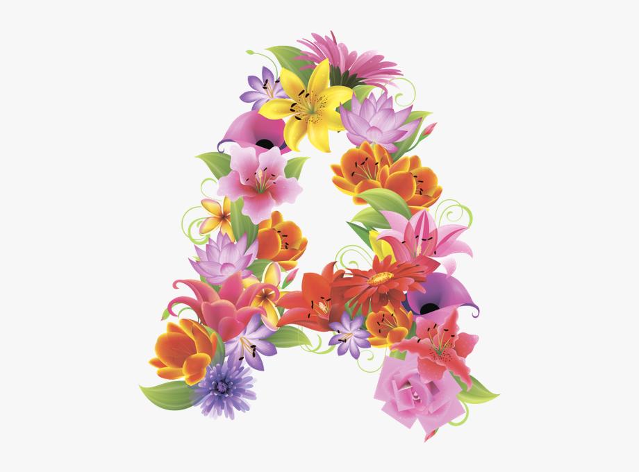 Alphabet Letters Design, Flower Alphabet, English Letter.