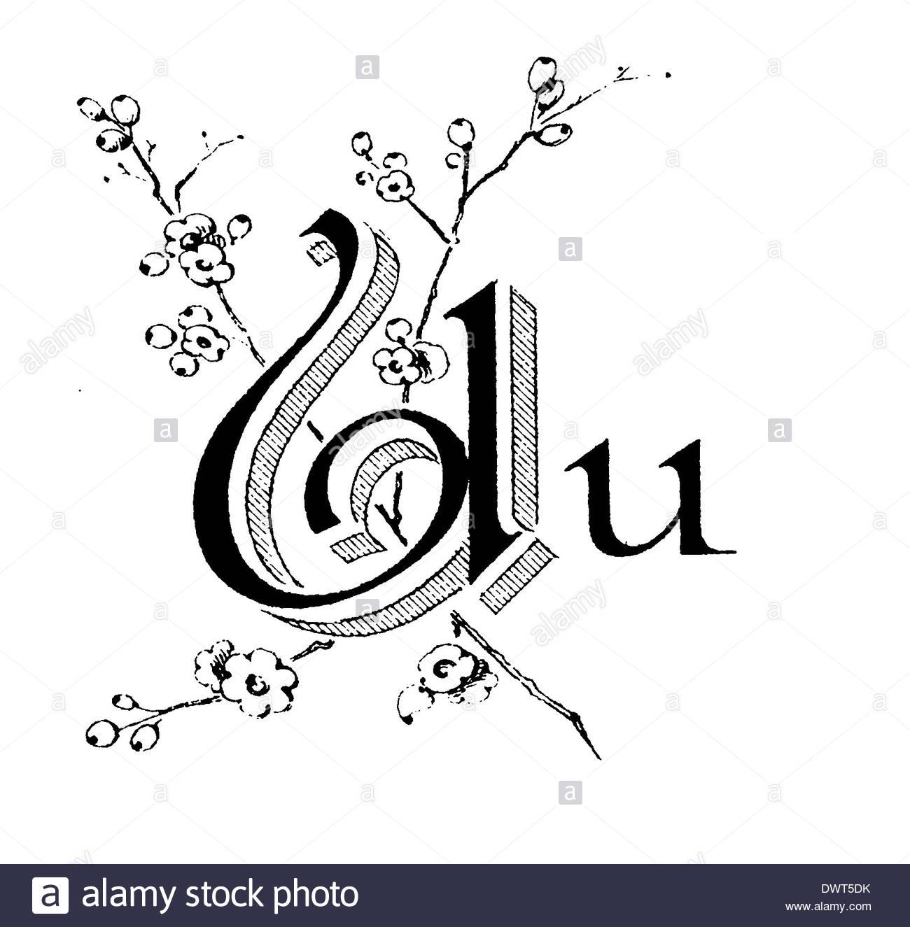Alphabetic Character, Letter U Stock Photo, Royalty Free Image.