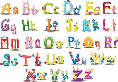 Cartoon alphabet letters free vector download (16,088 Free vector.