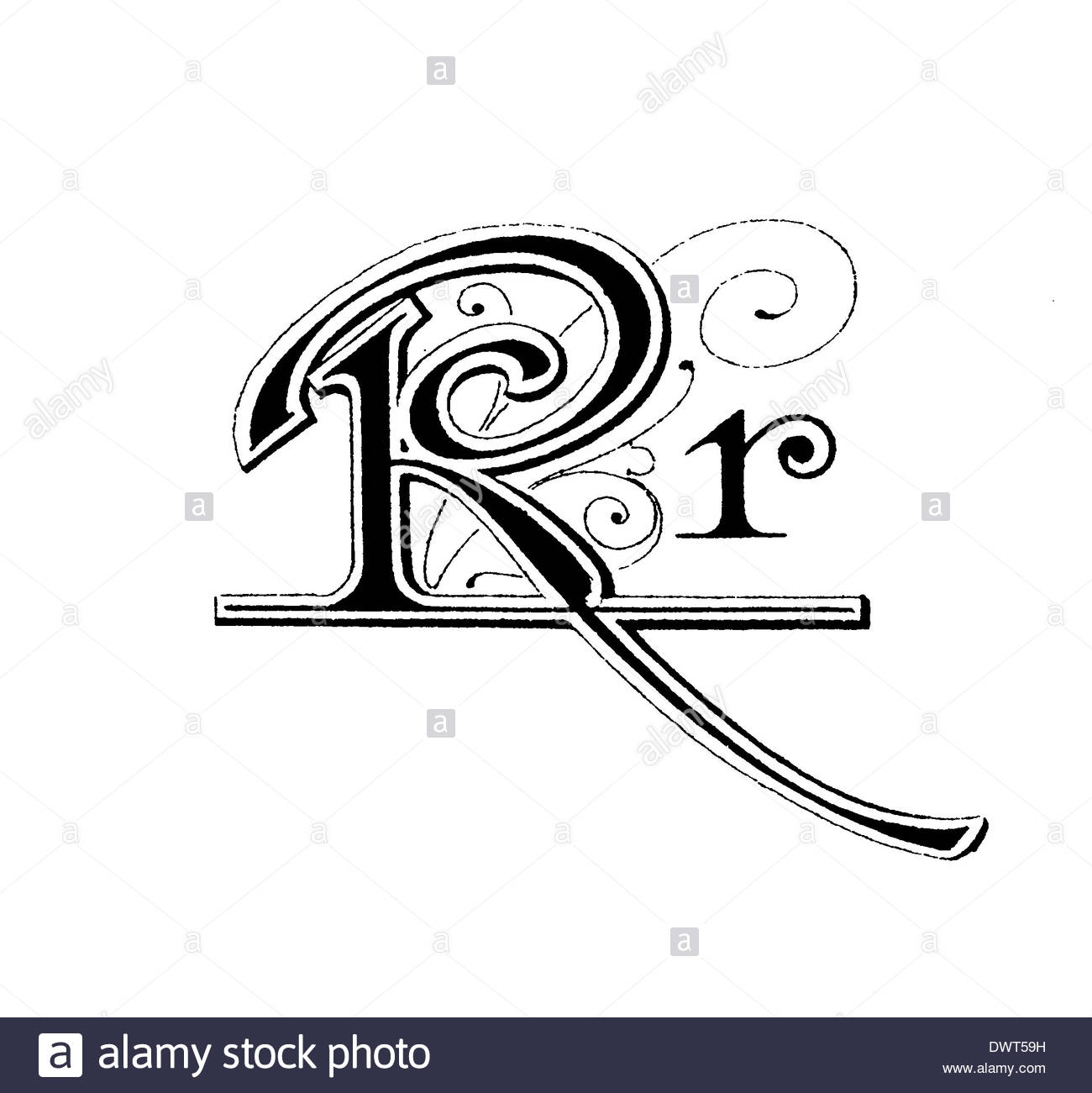 Alphabetic Character, Letter R Stock Photo, Royalty Free Image.