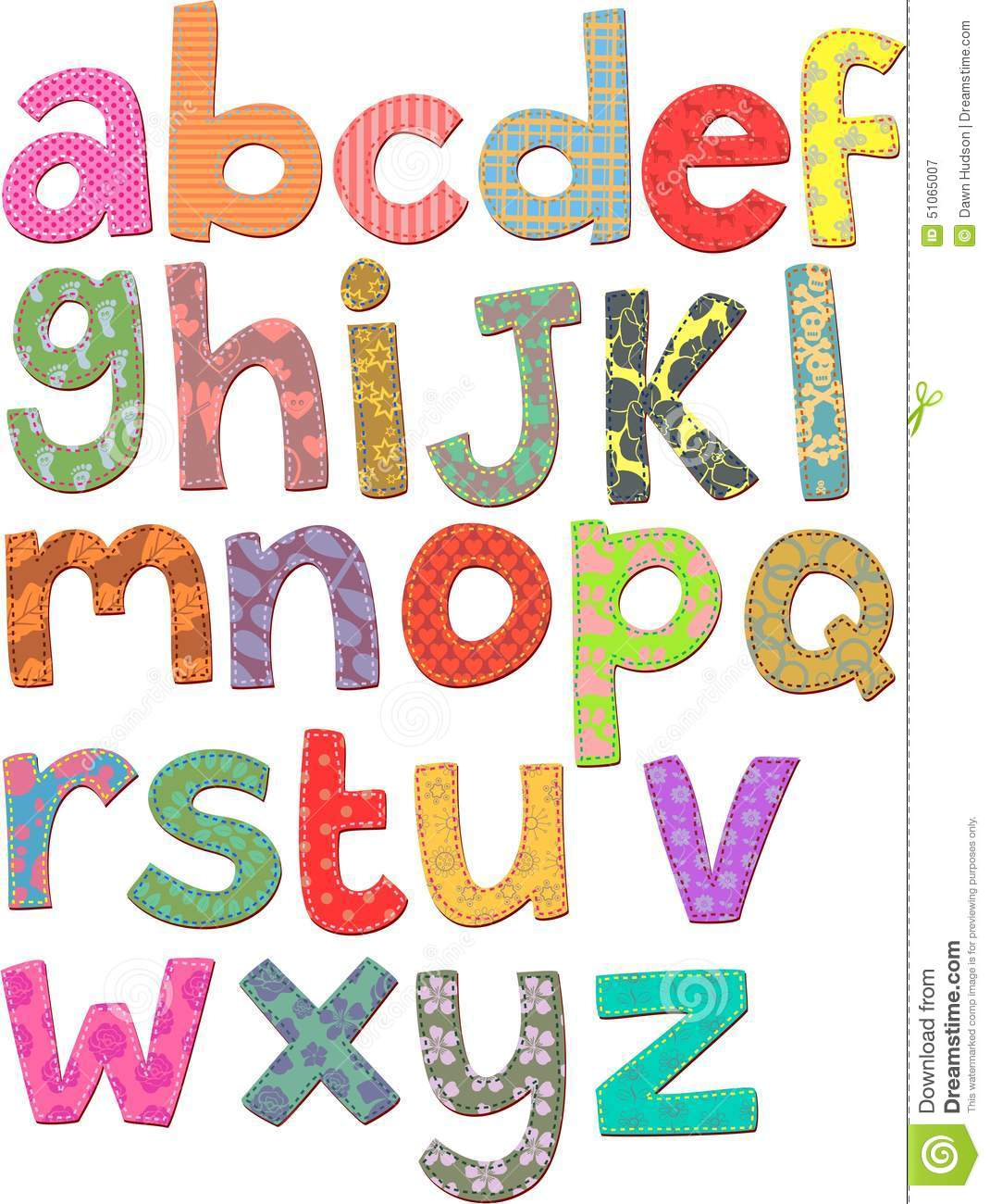 Alphabet Clip Art Stock Illustration.