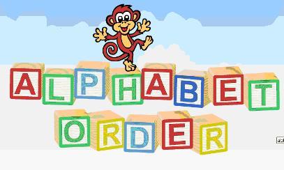 Alphabetical order clipart.