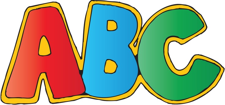 Alphabetical order clipart.
