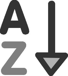 Increase Alphabetically Clip Art at Clker.com.