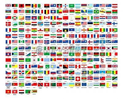 257 World Flags Alphabetically Order Stock Photo.