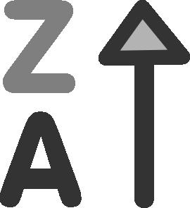 Decrease Alphabetically Clip Art at Clker.com.
