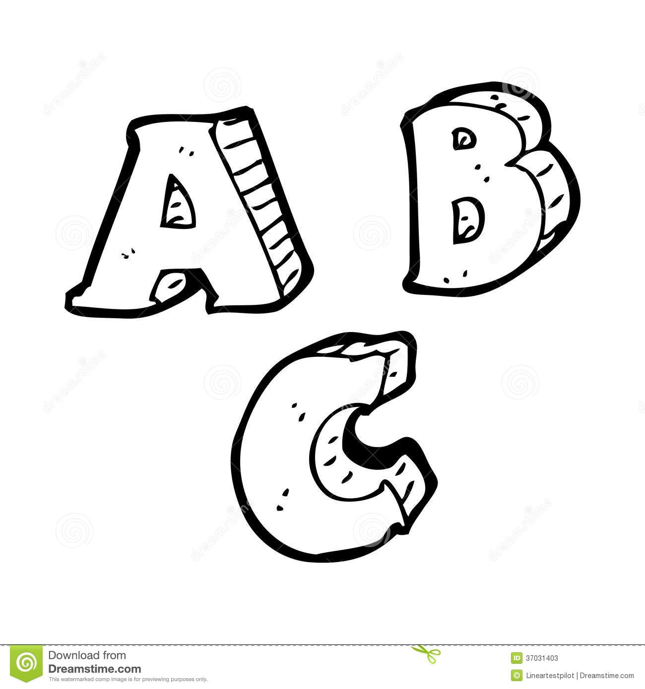 Clipart Black And White Letters.