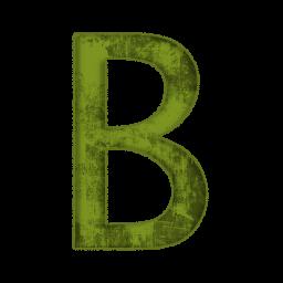 Green Grunge Clipart Icons Alphanumeric » Icons Etc.