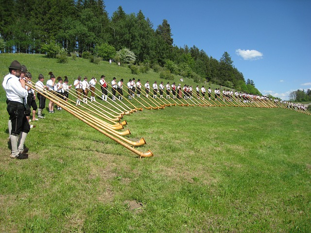 Free photo Wood Instrument Alphorn Musical Instrument Horn.