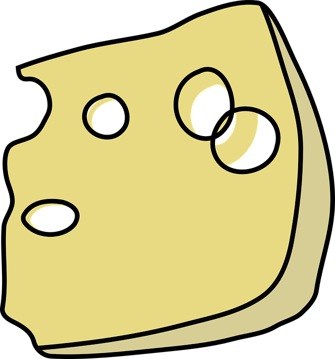 Free vector graphic: Swiss, Cheese, Wedge, Slice, Holes.