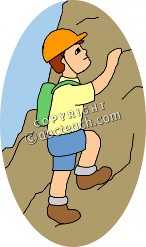 Clipart mountain climber.