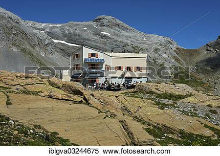 "Stock Image of ""Swiss Alpine Club, SAC hut, Cabane des Audannes."