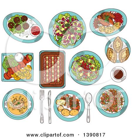 Alpine cuisine clipart #7