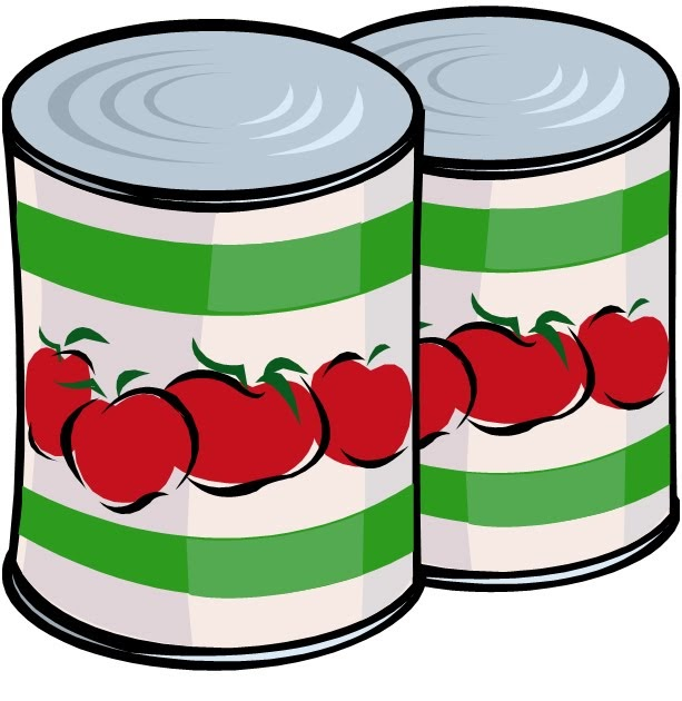 Food pantry donations clipart.