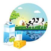 Mountain Dairy Farm Clipart.