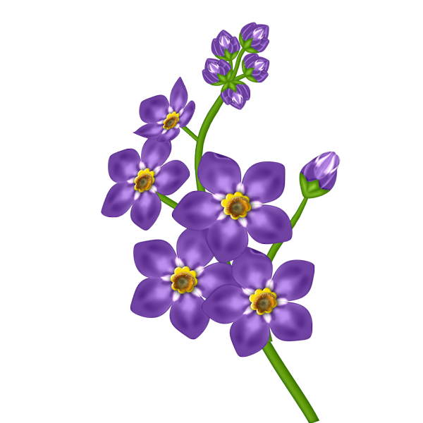 Purple blossoms clipart - Clipground