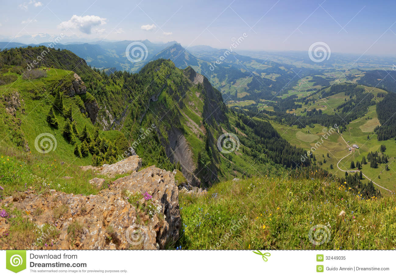 Region Of Entlebuch, Switzerland, Foothills Of The Alps Royalty.