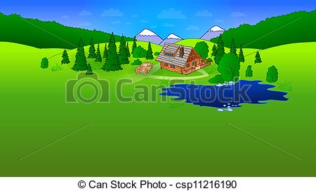 Mountain hut Illustrations and Clip Art. 412 Mountain hut royalty.