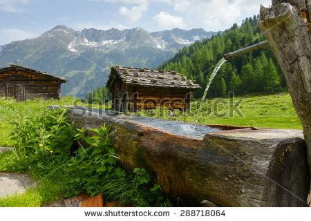 Mountain Hut Stock Photos, Royalty.