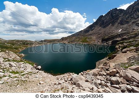 Stock Images of Alpine Lake in the Colorado Rocky Mountains.