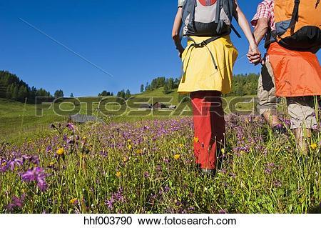 Stock Photography of Austria, Salzburg, Couple walking through.