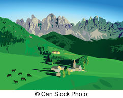 Alpine meadow Clipart Vector and Illustration. 145 Alpine meadow.